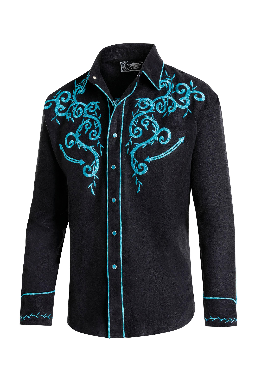 STARS /& STRIPES Hemd Dan Harvey Blau
