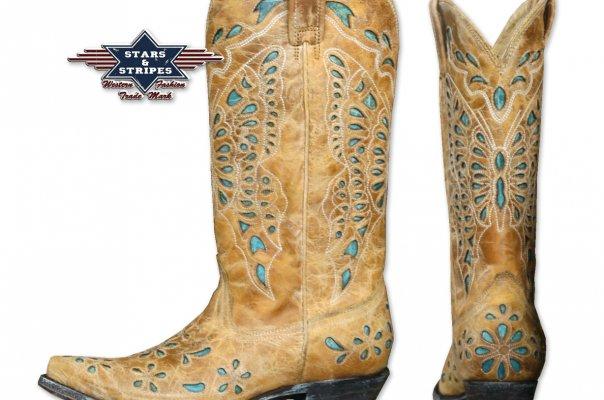 Stripes Starsamp; Westernstiefel Von » Fashion Ladies Western 67Yfybg